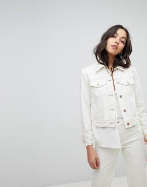 J Brand Джинсовая куртка. Цвет: белый