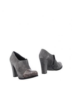 Ботинки EMANUELA PASSERI. Цвет: свинцово-серый