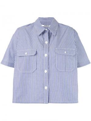 Полосатая рубашка кроя кейп Chalayan. Цвет: синий