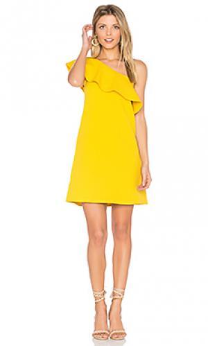 Платье tex cupcakes and cashmere. Цвет: желтый