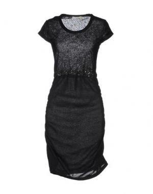 Платье до колена MANOSTORTI. Цвет: черный