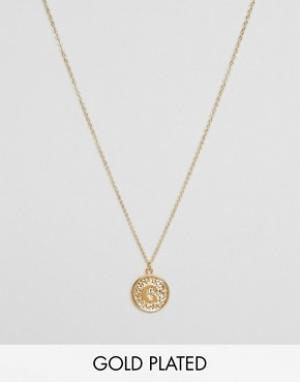 Ottoman Hands Ожерелье с инициалом на подвеске. Цвет: золотой