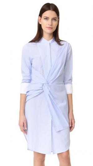 Платье-рубашка Rowe в полоску Acler. Цвет: голубая полоска
