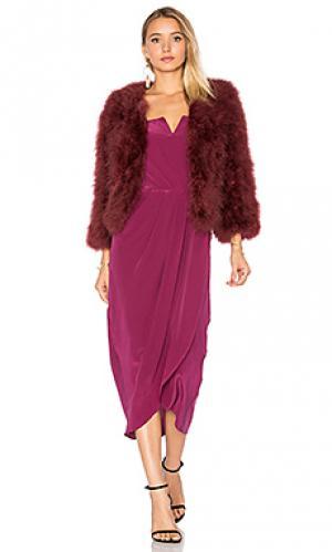 Куртка away we go fur Yumi Kim. Цвет: вишня