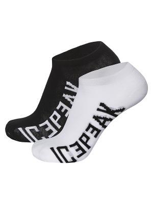 Носки, 2 пары Icepeak. Цвет: черный, белый