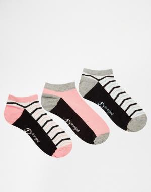 Penguin Набор из 3 пар носков. Цвет: мульти