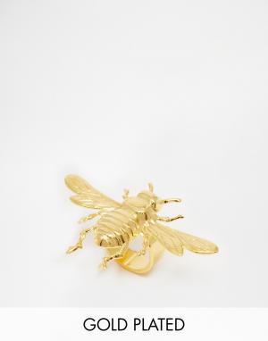 Mordekai Кольцо в виде пчелы с покрытием золотом 24 кт. Цвет: золотой