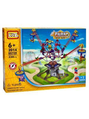 Электромеханический конструктор LOZ PARK. Серия: Парк развлечений. Четыре лопасти. Цвет: синий