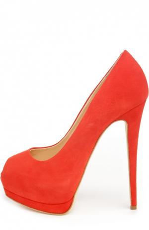 Замшевые туфли Sharon Giuseppe Zanotti Design. Цвет: красный