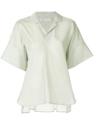 Блузка с короткими рукавами 08Sircus. Цвет: зелёный