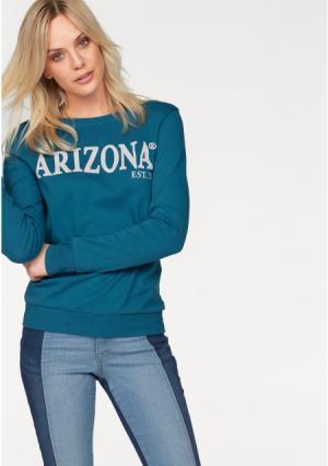 Толстовка Arizona. Цвет: зелено-синий