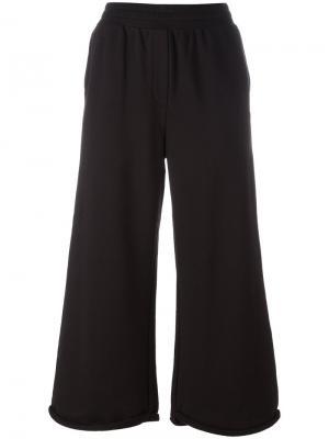 Укороченные расклешенные брюки T By Alexander Wang. Цвет: чёрный