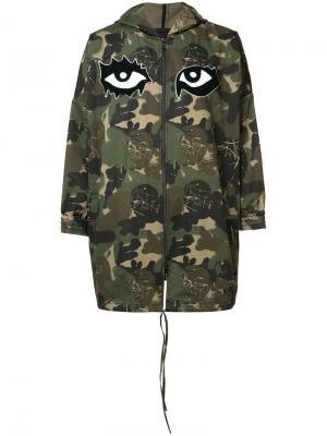 Камуфляжное пальто Haculla. Цвет: зелёный