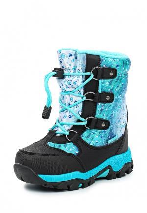 Ботинки Зебра. Цвет: голубой