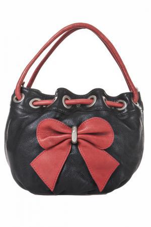 Сумка Giancarlo Bassi. Цвет: black and red