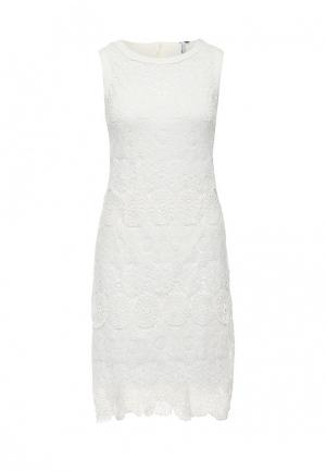 Платье AngelEye London. Цвет: белый