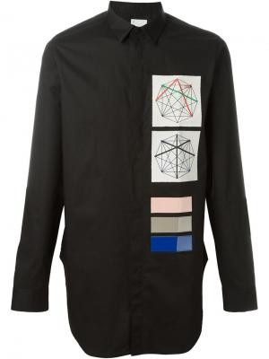 Рубашка с заплатками Cy Choi. Цвет: чёрный