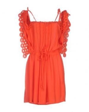 Платье до колена BELAIR. Цвет: коралловый