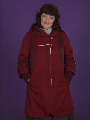 Пальто VIKO. Цвет: темно-красный