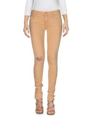 Джинсовые брюки MOTHER. Цвет: песочный