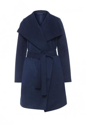 Пальто oodji. Цвет: синий