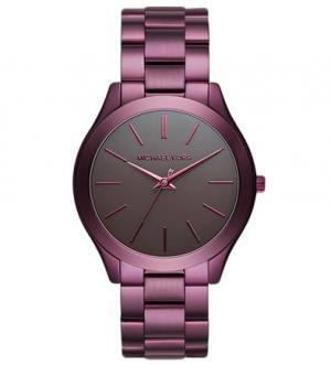 Часы с фиолетовым браслетом из металла Michael Kors
