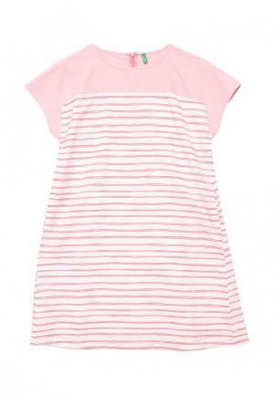 Платье United Colors of Benetton. Цвет: розовый