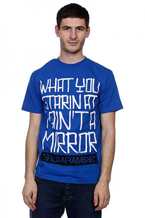Футболка Sk8Mafia Mirror Blue. Цвет: синий