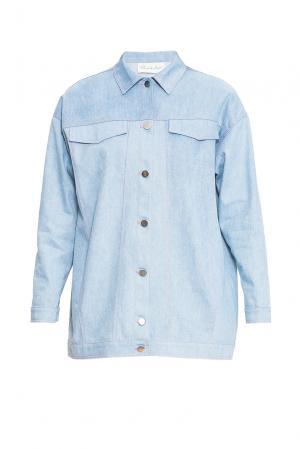 Джинсовая куртка 163466 Private Sun. Цвет: синий