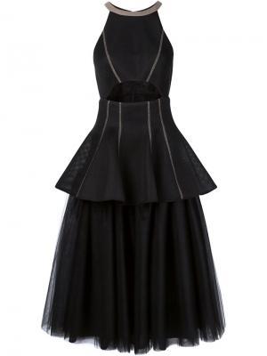 Платье с пышной юбкой из тюля Dominic Louis. Цвет: чёрный