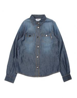 Джинсовая рубашка MOSCHINO TEEN. Цвет: синий