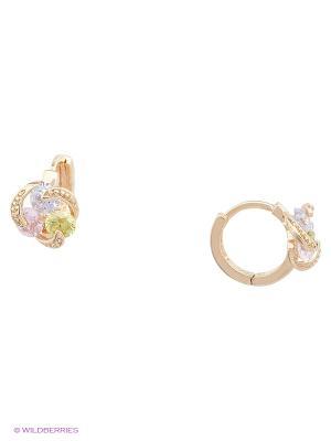 Серьги Taya LX. Цвет: золотистый, зеленый, розовый