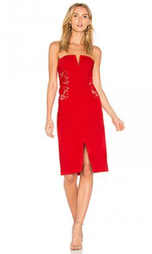 Платье zina BB Dakota. Цвет: красный
