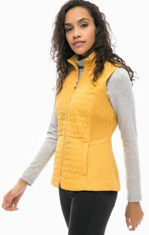 Желтый жилет с карманами olsen. Цвет: желтый