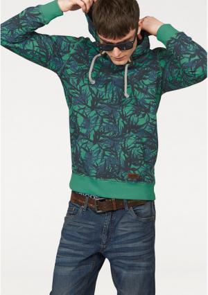 Толстовка JOHN DEVIN. Цвет: зеленый/синий с рисунком