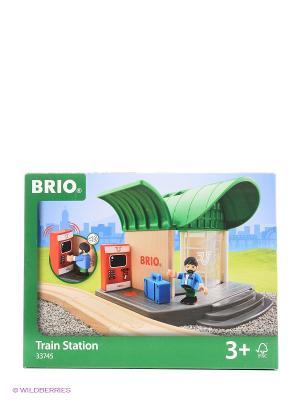 Игровой набор билет. автоматом, раздвижными дверями BRIO. Цвет: зеленый
