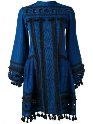Платье с контрастной отделкой Dodo Bar Or. Цвет: синий