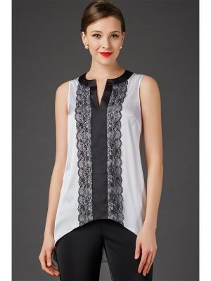 Блузка Арт-Деко. Цвет: белый, черный