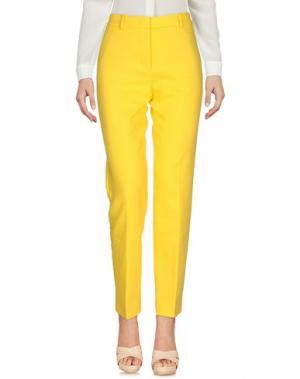 Повседневные брюки MANTÙ. Цвет: желтый