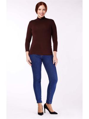Водолазка Milana Style. Цвет: коричневый