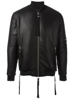 Куртка-бомбер Shine Blood Brother. Цвет: чёрный