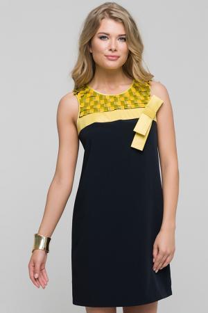 Платье Gloss. Цвет: черный, желтый