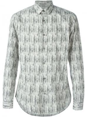 Рубашка в принт Vangher. Цвет: серый
