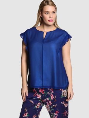 Блузка COUCHEL. Цвет: синий