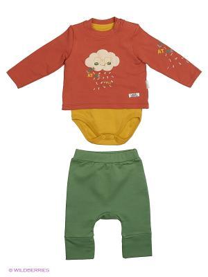 Костюм для малышей WO&GO. Цвет: коричневый, горчичный, оливковый