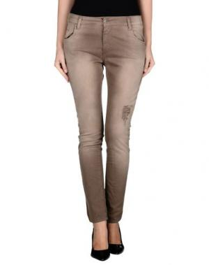Повседневные брюки RISSKIO. Цвет: хаки