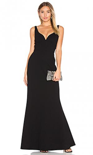 Вечернее платье без рукавов JILL STUART. Цвет: черный