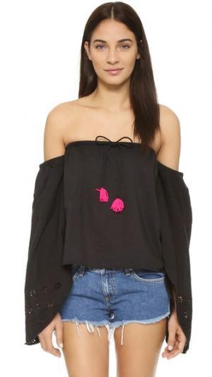 Топ Simone SUNDRESS. Цвет: черный/розовый