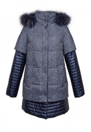 Куртка утепленная GALLOTTI. Цвет: синий