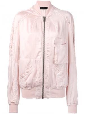 Куртка-бомбер с накладными карманами Haider Ackermann. Цвет: розовый и фиолетовый